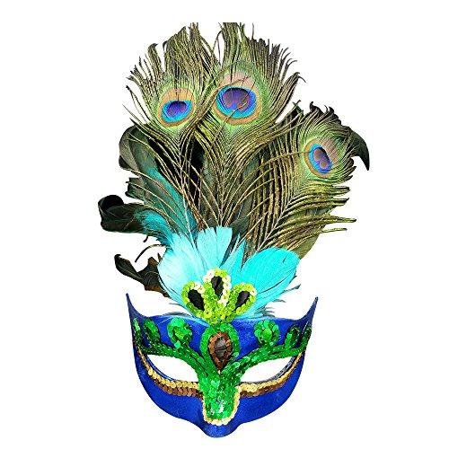Eizur Mascarade Masque Aristocratic masque de paon pour Halloween Partie Fantaisie Dress Christmas Cosplay Costume Props Carnaval Ball