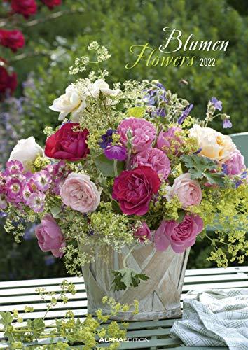 Blumen 2022 - Bild-Kalender A3 (29,7x42 cm) - Flowers - Wandplaner - mit Platz für Notizen - Alpha Edition