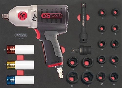 KS TOOLS 712.1020 Module de douilles et clé à chocs pneumatique 1 2  , 20 pièces