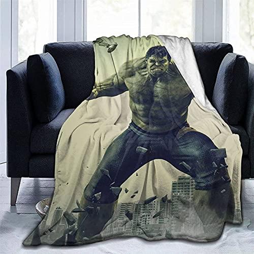 Hulk - Coperta Hulk Blanket, coperta per bambini, coperta calda, adatta per divano, soggiorno, ufficio, letto, decorazione (ulk5, 150 x 200 cm)