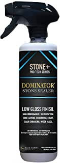 16 Ounce DOMINATOR Stone+, Low Gloss Stone Sealer and Clay Brick Sealer (Wet Look), Commercial Grade, Water Based, Color Enhancing, Easy Application