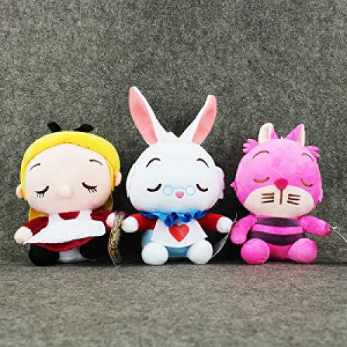 Plush Toys 3 Pieces/Batch Alice in Wonderland Plush Toys Cheshire Cat...