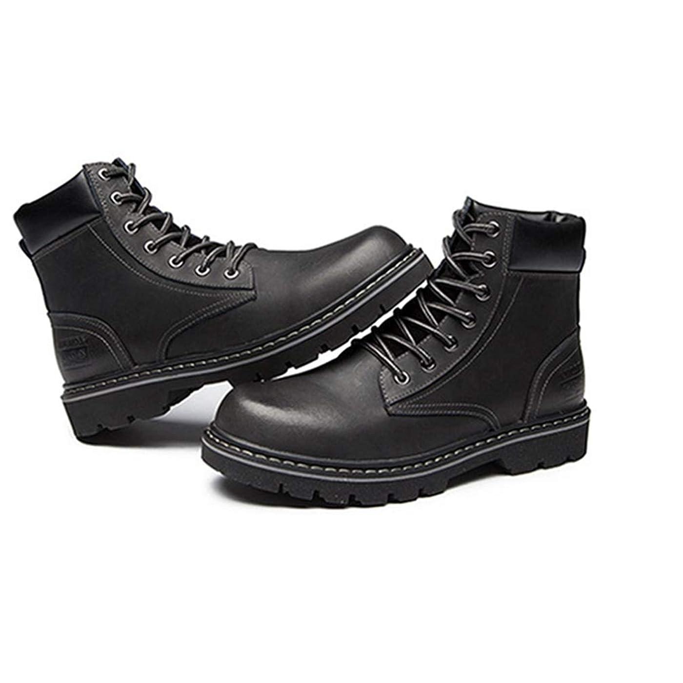知事依存するフルーツマーティンブーツ ショートブーツ メンズ 本革 レースアップ ハイカット 黒 ブラック ブラウン 衝撃吸収 滑り止め ラウンドトゥ ワークブーツ アウトドア カジュアル メンズ靴 安全靴