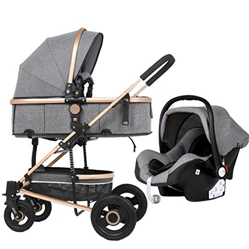 Best Bargain Meen Folding Stroller, Sitting Reclining Folding Shock Absorber Stroller High Landscape...