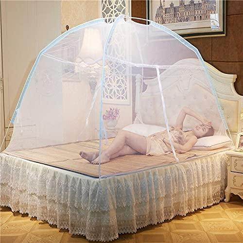 APANA Mobiler Insektenschutz Moskitonetz Mückennetz Fliegengitter Camping Doppelbett 180 x 200 x 150 cm weiß