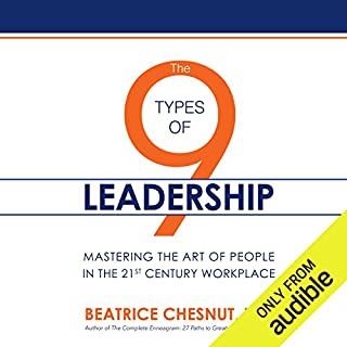 The 9 Types of Leadership     Mastering the Art of People in the 21st Century Workplace              Auteur(s):                                                                                                                                 Beatrice Chestnut PhD                               Narrateur(s):                                                                                                                                 Dina Pearlman                      Durée: 13 h et 40 min     1 évaluation     Au global 5,0