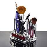 T&F Tooloflife - Organizador de brochas de maquillaje de acrílico para brochas de maquillaje