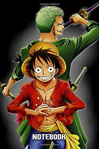 """Notebook: One Piece ,Fan Art Design, Journal for Writing, College and Universities ,Size 6"""" x 9"""", 120 Pages"""