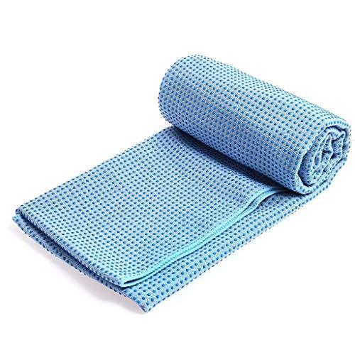 KSER Yogamatte rutschfestes Handtuch Yogadecke Yogamatte Handtuch 183X63cm gerader Punkt himmelblau Sportgerät Für Zuhause Fitness schaukel mit rutsche Quadro klettergerüst spielturm Fitness