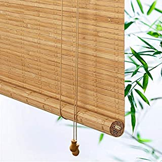 Natural Bamboo Roller Blind Bamboo Curtain Blinds Curtain Partition Curtain, Shade Ventilation, Indoor and Outdoor DIY Furniture Decoration