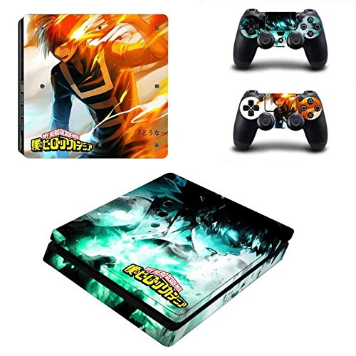 PS4 Slim Skin and DualShock 4 Skin - Anime - PlayStation 4 Slim Vinyl Sticker for Console and Controller Skin