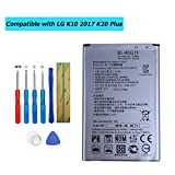E-YIIVIIL BL-46G1F Replacement Battery Compatible with LG K10 2017 K20 Plus TP260 K425 K428 K430H with Toolkit