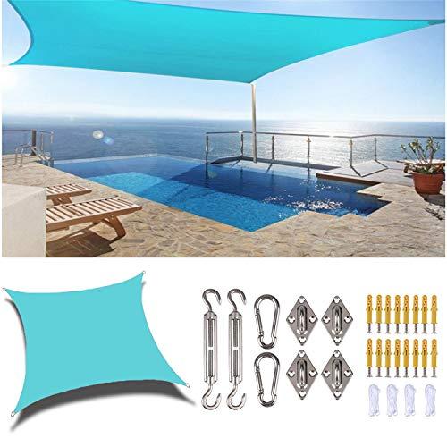 Sun-Shelter Sombrilla Sombrilla Plaza al aire libre Rectángulo Anti-UV con kit de fijación Patio Jardín Patio Pool Shades Sail Toldo Toldo Camping Shade Paño Senderismo Yard Beach Coche Tarjetos Regal