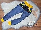 Cozy Pants Jeans Hose Neon Dinosaurier Jersey 92-146