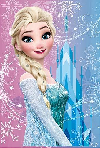 Star Disney Frozen - Coperta stampata, 100 x 150 cm, multicolore