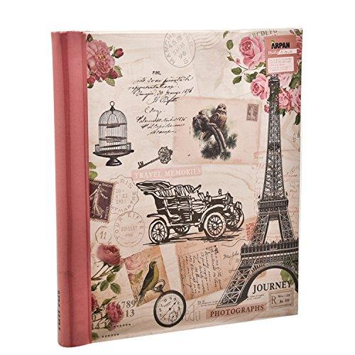 Arpan Voyage rose Grand album photo autoadhésif 20 feuilles 40 côté - Hibou vintage