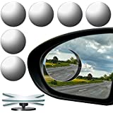 URATOT 6 Pack Automobile Rear Blind Spot Mirror, 360° Rotate Design, Unique Wide Angle Mirror Safety for All Car Truck Motorcycles SUV RV and Van