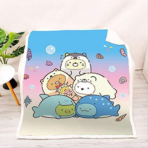 AZSOGOOD Patrón de Manta de sofá Bio de Esquina de impresión 3D, Hermosa Manta de Viaje, decoración de sofá de Dormitorio y Sala niños-B_135x150cm*1