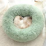 Cama Para Gato,Los Pequeños Perros Gatos Mascotas Alberga Acogedores Sofás Cute Caliente Suave Cama Donut Afelpado Cojín Lavable Dormir Cómoda Piscina 50*50 Cm Para Mascotas 7,5 Kg Por Debajo De