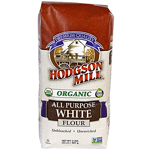 Hodgson Mill Organic All-Purpose White Flour, Unbleached, 2 Pound, Unbromated and Unenriched, All-Purpose Naturally White Wheat Flour for Baking and Cooking, Mixes Well With Whole Grain Flours