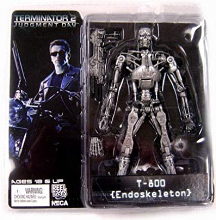"7/"" T-800 ENDOSKELETON figure THE TERMINATOR neca classic PLASMA RIFLE box SERIES"