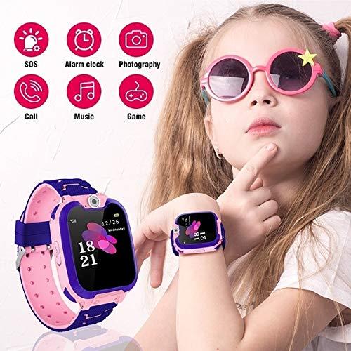 Kinder Smartwatch wasserdicht, Micoke Touchscreen Mobile Smartwatch für Mädchen Jungen, SOS Call SIM-Karte Smartwatch mit Kamera, Spiel für Kinder Geburtstag, Urlaub, Pink