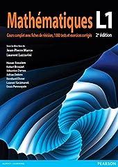 Mathématiques L1 - Cours complet avec fiches de révision, 1000 tests et exercices corrigés de Jean-Pierre Marco