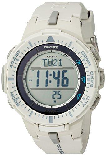 Casio Men's 'ProTrek Triple Sensor' Quartz Resin Watch, Color:White (Model: PRG-300-8CR)