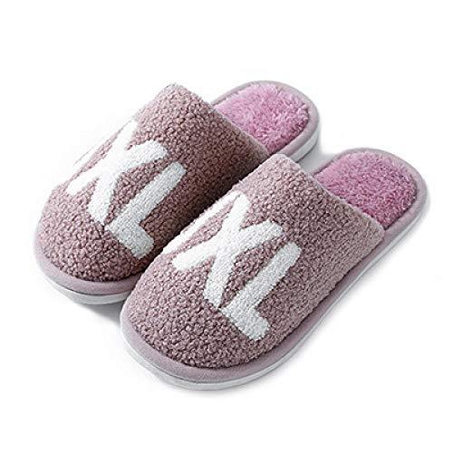 XZDNYDHGX Zapatilla de Estar por casa,Zapatillas Unisex de Felpa con Letras Antideslizantes, cálidas para el hogar Zapatillas Ligeras para el hogar púrpura EU 37-38