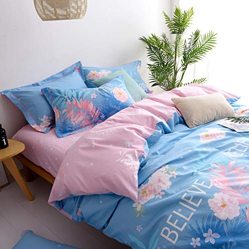 Yaonuli dekbedovertrek van katoen, 4-delig, voor tweepersoonsbed, 1,8 m, 3-delig, Parijs, 1,8 m (6 voeten) set met vier delen