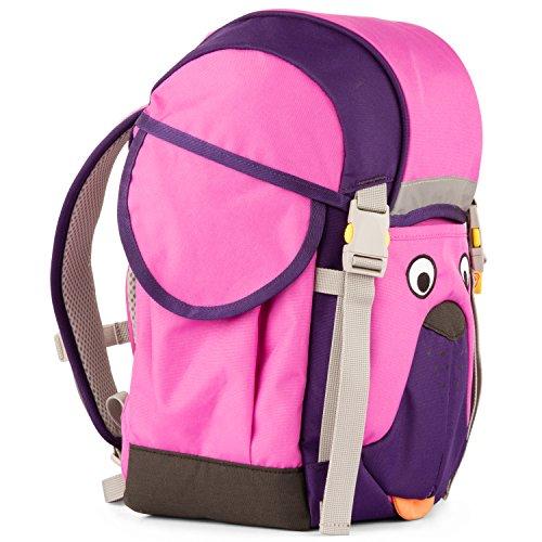 Affenzahn Schulrucksack Kinderrucksack Kitarucksack mit Brustgurt für 3-5 jährige Jungen und Mädchen im Kindergarten Walki Winnie Wuff - Lila