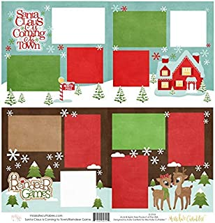 Two Printed Layouts - Santa Claus is Coming to Town & Reindeer Games - 2-2 Page 12