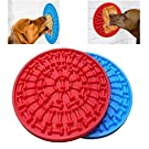 AWITHZ Dog Lick Pad Slow Feeder Lick Mat Auctions Slow Treat Dispensing Mat Dog Washing Distraction Device with Super Suction to Wall for Pet Bathing, Grooming, Dog Training
