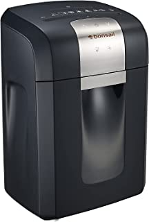 Bonsaii Paper Shredder, 120 Minutes Continuous Running Time, 8-Sheet Heavy Duty Micro Cut CD Credit Card Shredder for Offi...