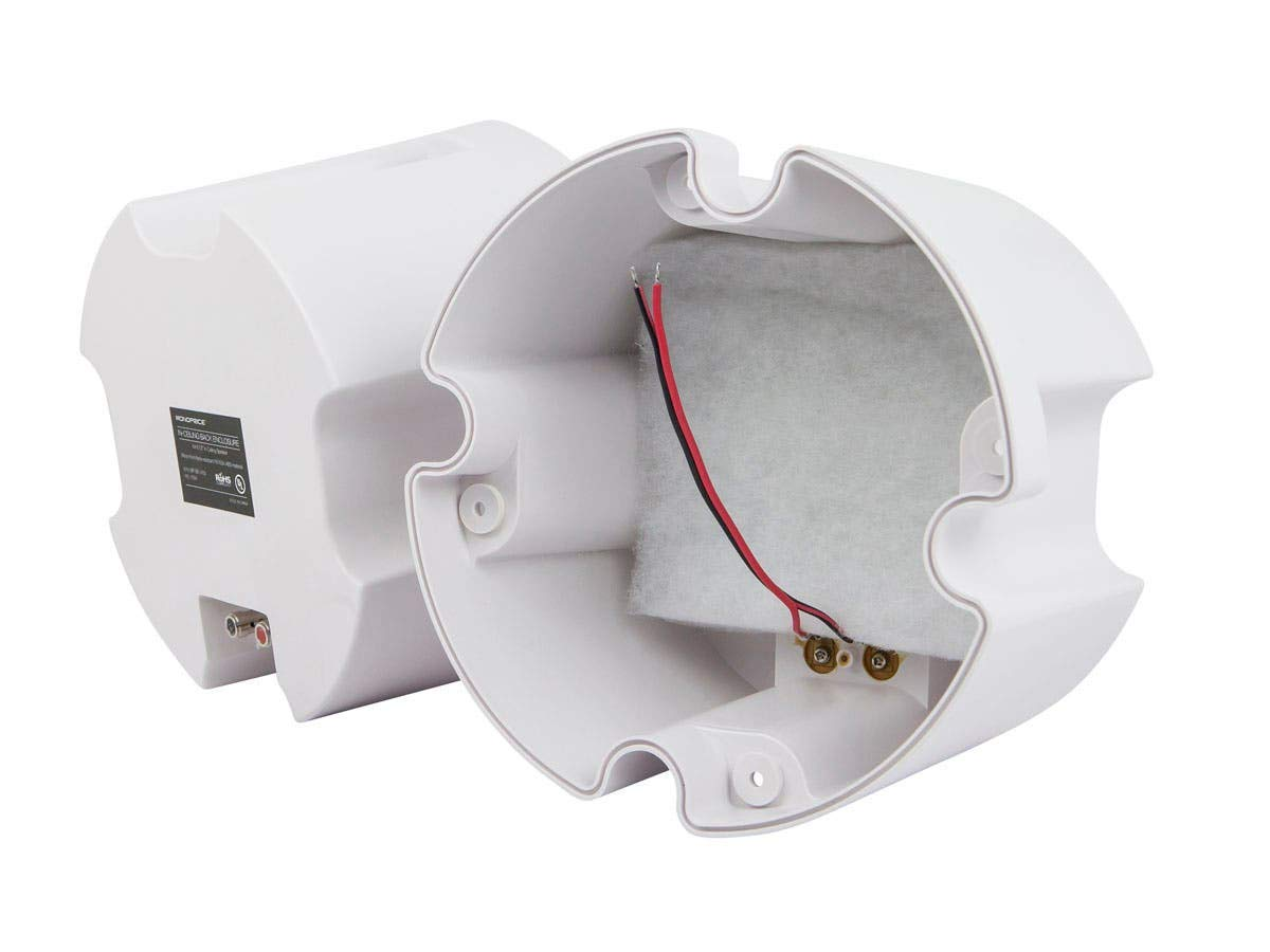 Monoprice ABS Back Enclosure (Pair) for PID 4103, 6 1/234; Ceiling Speaker White