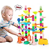 Bpocz Marble Run Toy Set for Kids 150Pcs Marble Race Track for Kids,...