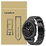 Ceston Metalica Acero Clásico Correas para Smartwatch Amazfit GTR (47mm, Negro)