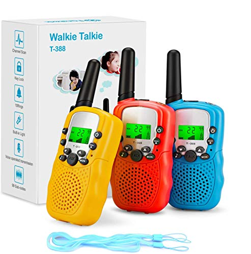 Fansteck Walkie Talkie, 3 pcs Walkie...