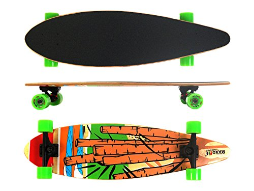 MAXOfit® Longboard Cartoon No. 05 | ABEC 9 Kugellager | Ahorn Top Mount/Cruiser