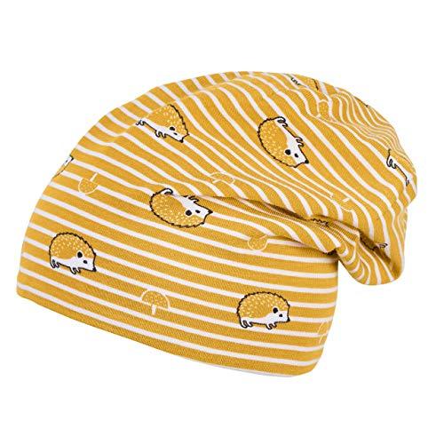Sterntaler Baby Mädchen Jungen Slouch Beanie Jerseymütze Igel, Größe:45, Farbe:Bernstein (141)