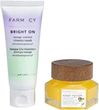 Farmacy Face Mask Facial Treatment Set! Honey Potion Mask And Bright On Clay Mask! Honey Face Mask Made With Antioxidant-Rich Proprietary Honey Blend! Vitamin C Mask Brighten And Clarify Skin!