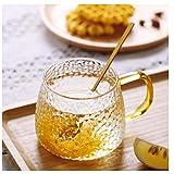 BBTY La Taza de té Japonesa de 400 ml con asa, se Puede Utilizar como una Taza de café, a Alta Temperatura, Muy Adecuado para el Latte, café Concentrado, Jugo, Agua, Leche o Bebida Caliente