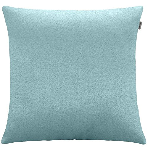 Capa de Almofada - Jacquard Liso - Azul Celeste - Adomes