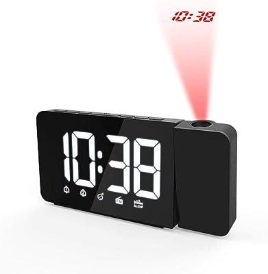 ZHANGKUN Alarma Reloj Digital Reloj de Mesa de luz de Fondo de ...