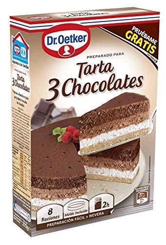 DR. OETKER preparado para tarta 3 chocolates caja 270 gr