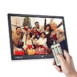 Andoer 15インチ デジタルフォトフレーム 1280*800 高解像度 IPS広視野角 液晶 1080p 写真/動画/音楽再生 時計/カレンダー/アラーム/ 電子ブック/TXT機能付き リモコン付き 広告機 家族/友人/彼女/彼氏などへのプレゼント インテリア用 (ブラック)