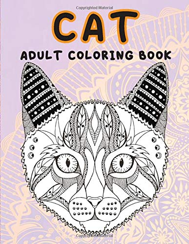 Cat - Adult Coloring Book