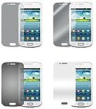 Cadorabo Bildschirmschutzfolien für Samsung Galaxy S3 Mini - Schutzfolien in HIGH Clear – 4 Folien (1x Privacy - 1x Spiegel - 1x Matt - 1x Anti-Fingerabdruck)