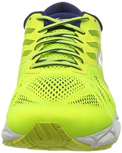 Mizuno Wave Ultima 11, Zapatillas para Correr de Carretera Hombre, Profundidades Amarillo/Blanco/Azul, 46.5 EU