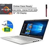 "HP 14"" HD Laptop Computer, AMD Ryzen 3 3250U up to 3.5GHz (Beat i3-7100U), 8GB DDR4, 256GB PCIe SSD, Camera, Microphone, Online Class Ready, AC WiFi, Bluetooth, Windows 10 S, BROAGE 64GB Flash Drive"